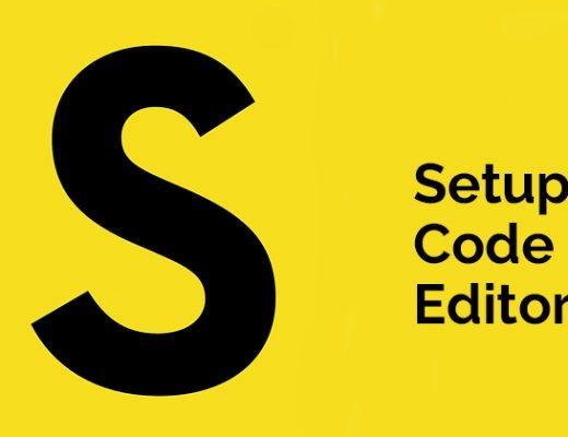 Setup Code Editor