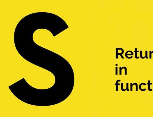 Return in functions